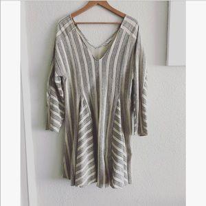 Zara two tone striped dress sz: L